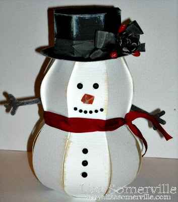Snowman is diecut using the Silhouette and SVG Cuts Christmas Open House Kit