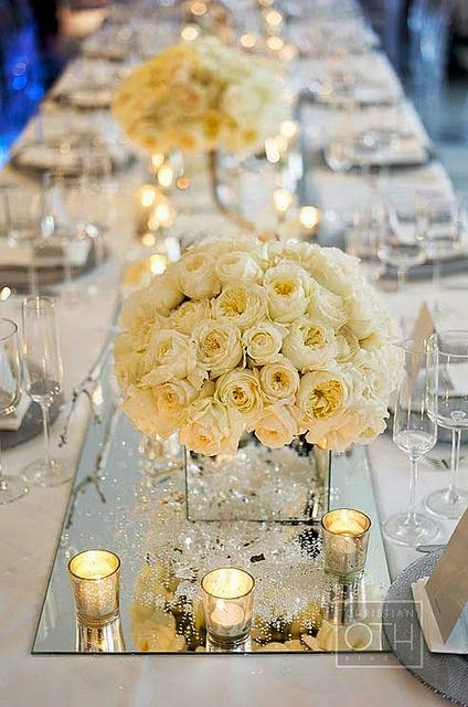 Elegant white flower centerpieces