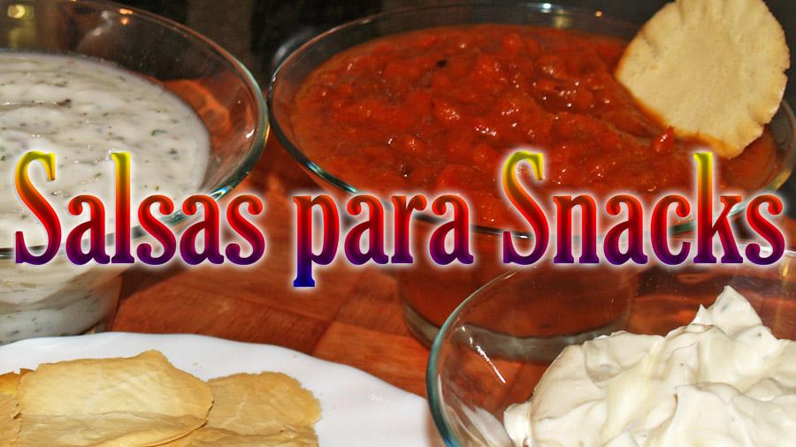 salsas para snacks