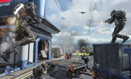 Exosuits and swarming drones lend a sense of high-tech verticality to the gameplay Photograph: Activision