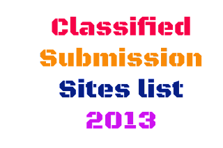 Classified Submission 2013 Sites List