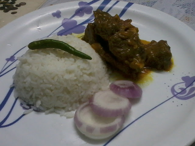 Sunday Special - Mutton Curry with rice