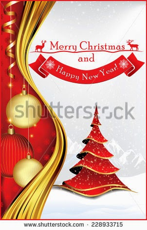 printable christmas card new year greeting card