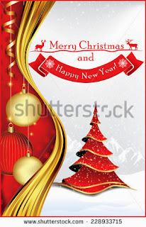Printable Christmas card - New Year greeting card