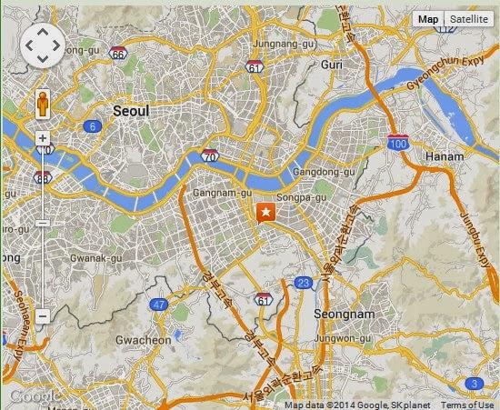 Seoul Subway Map Jamsil