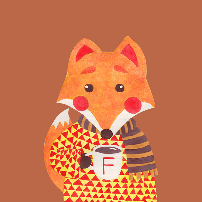 The Winter Fox Illustration Printed on Merchandise Illustration by Haidi Shabrina