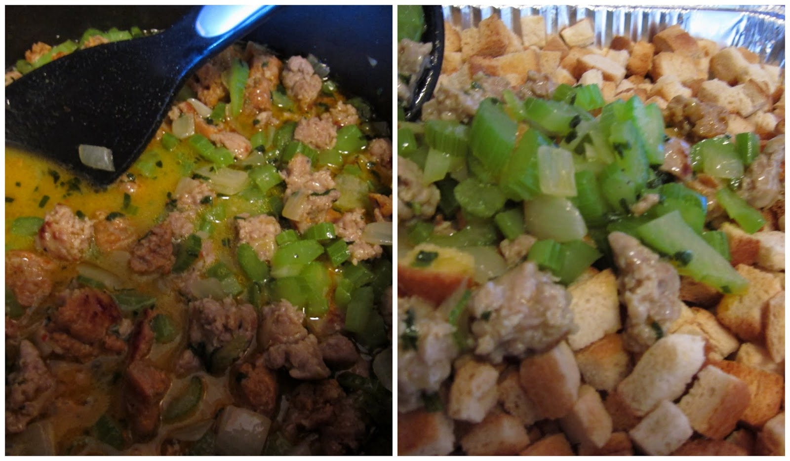 Sage and Sausage Stuffing/Dressing - shelly in real life