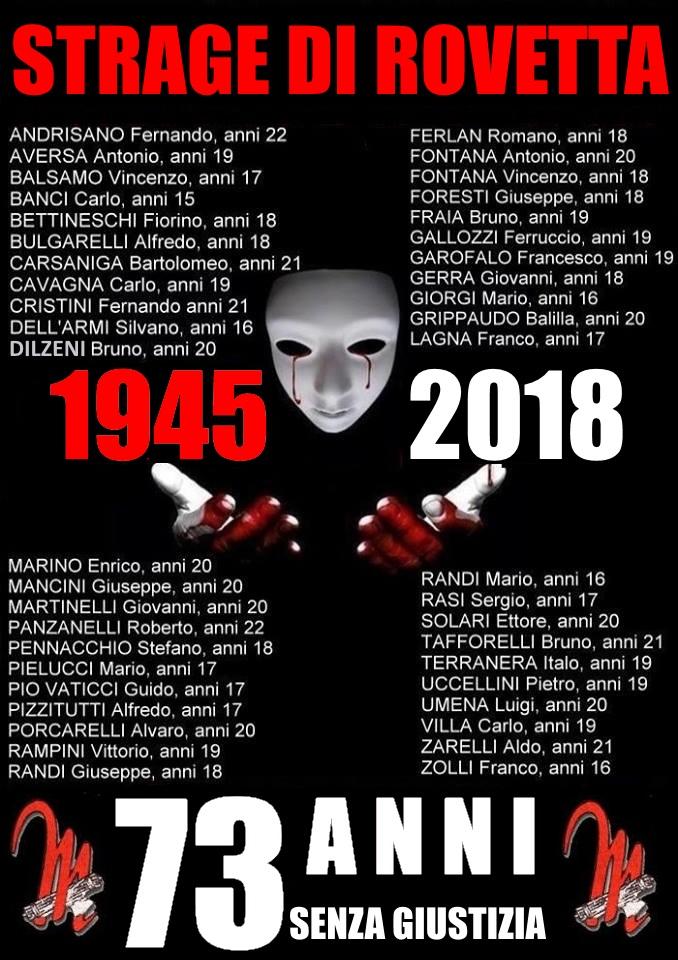 28 APRILE 1945 - 28 APRILE 2018