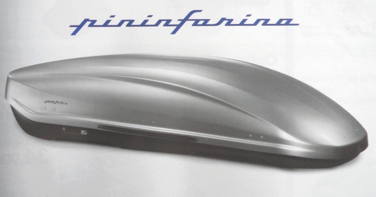 la gazette automobile le coffre de toit pininfarina norauto. Black Bedroom Furniture Sets. Home Design Ideas