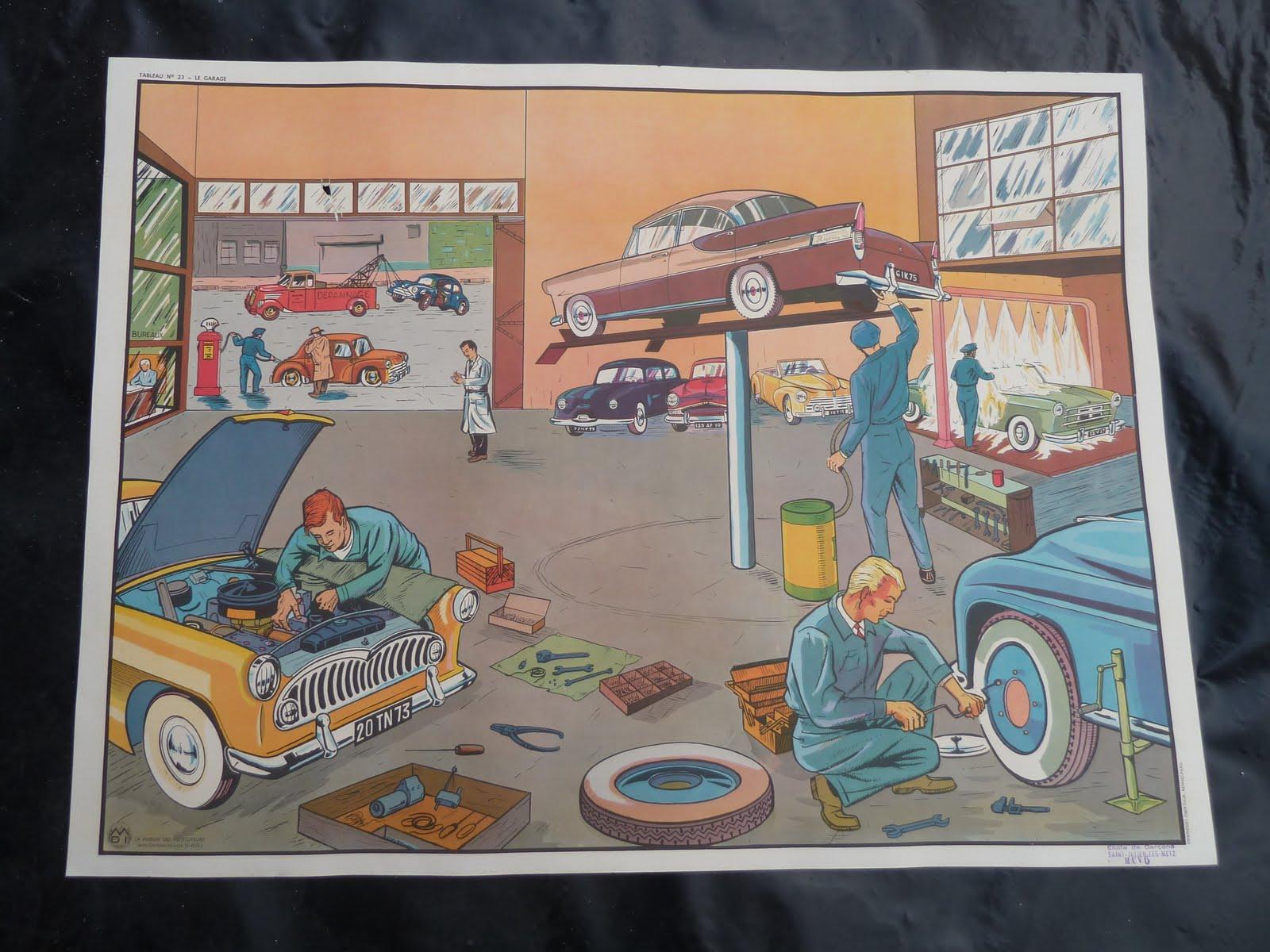 ecole fmr 1000 affiches scolaires affiche scolaire mdi 1960 garage construction de route. Black Bedroom Furniture Sets. Home Design Ideas