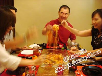 auspicious chinese new year salmon lo hei