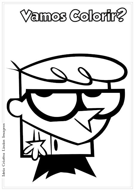O Laboratório de Dexter desenho pra colorir
