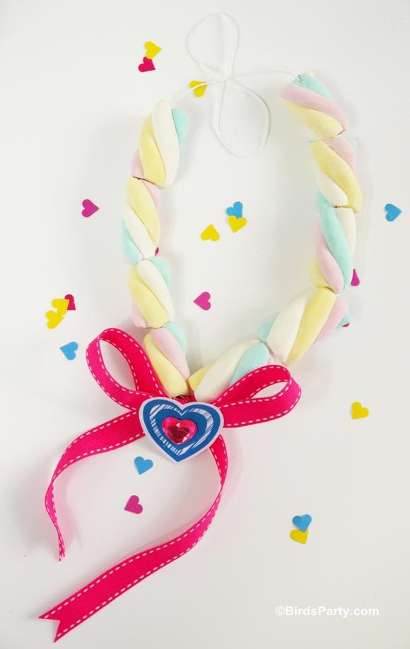 Valentine 39 s crafts for kids diy marshmallow necklace for Necklace crafts for kids