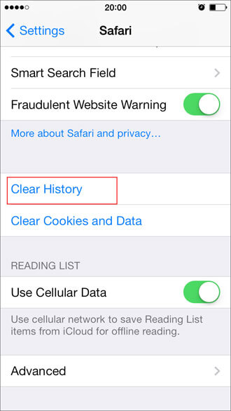 Erase iphone data how to delete safari bookmarks history cookies part 3 how to delete cookies in safari for your iphone ipad ccuart Images