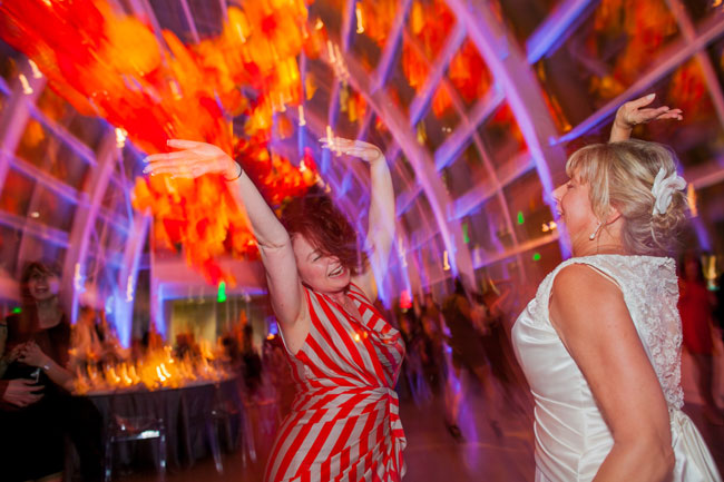 chihuly garden and glass dancing party event