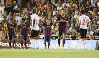 Video Cuplikan Gol Valencia VS Barcelona 2-3