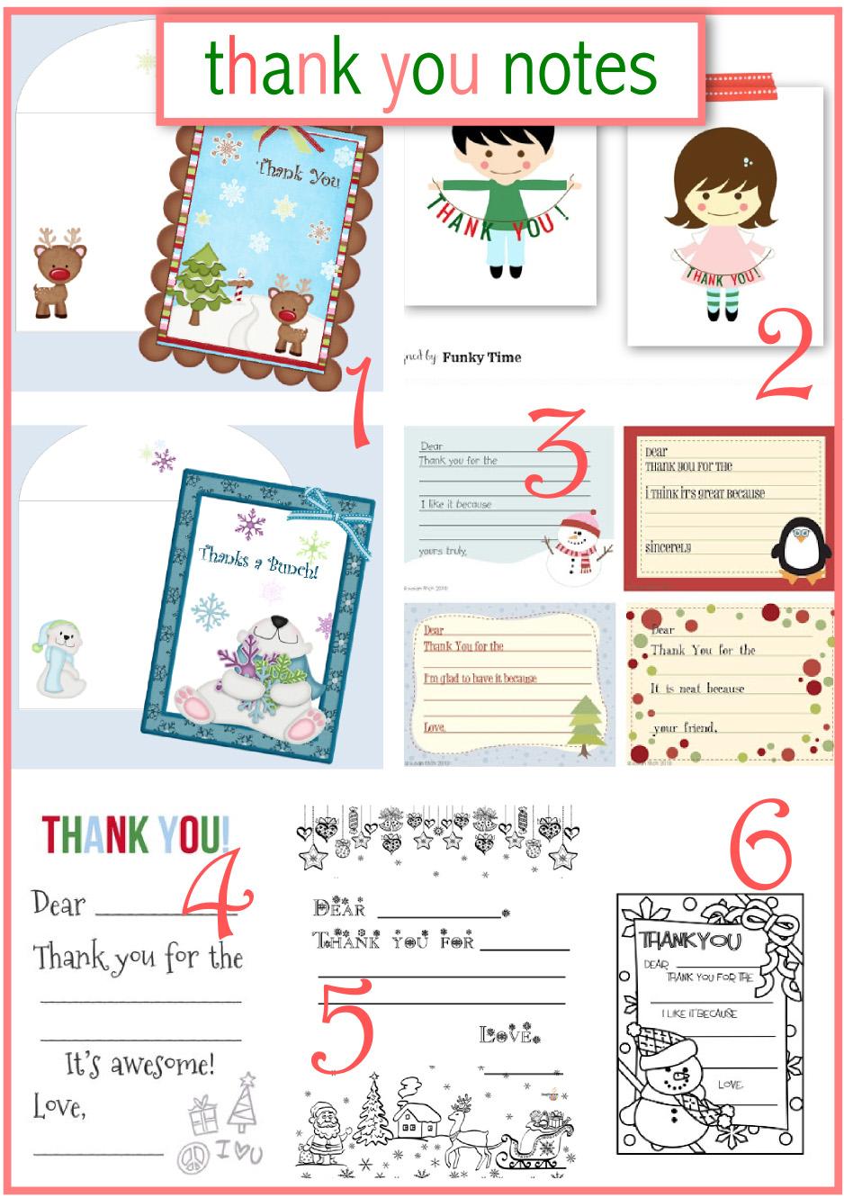 10 free printable Christmas thank