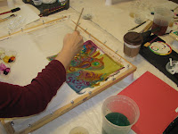 Deborah Younglao silk painting workshop