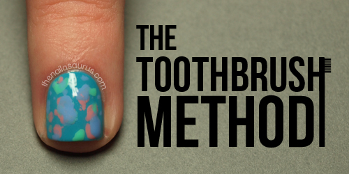 Money Smart Nail Art: The Toothbrush Method Tutorial