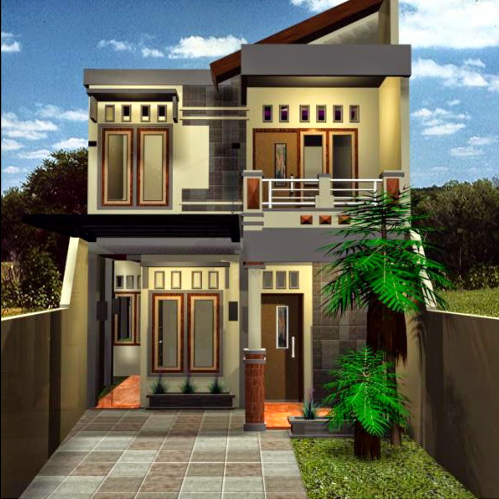 Model Rumah minimalis Terbaru 2 tingkat