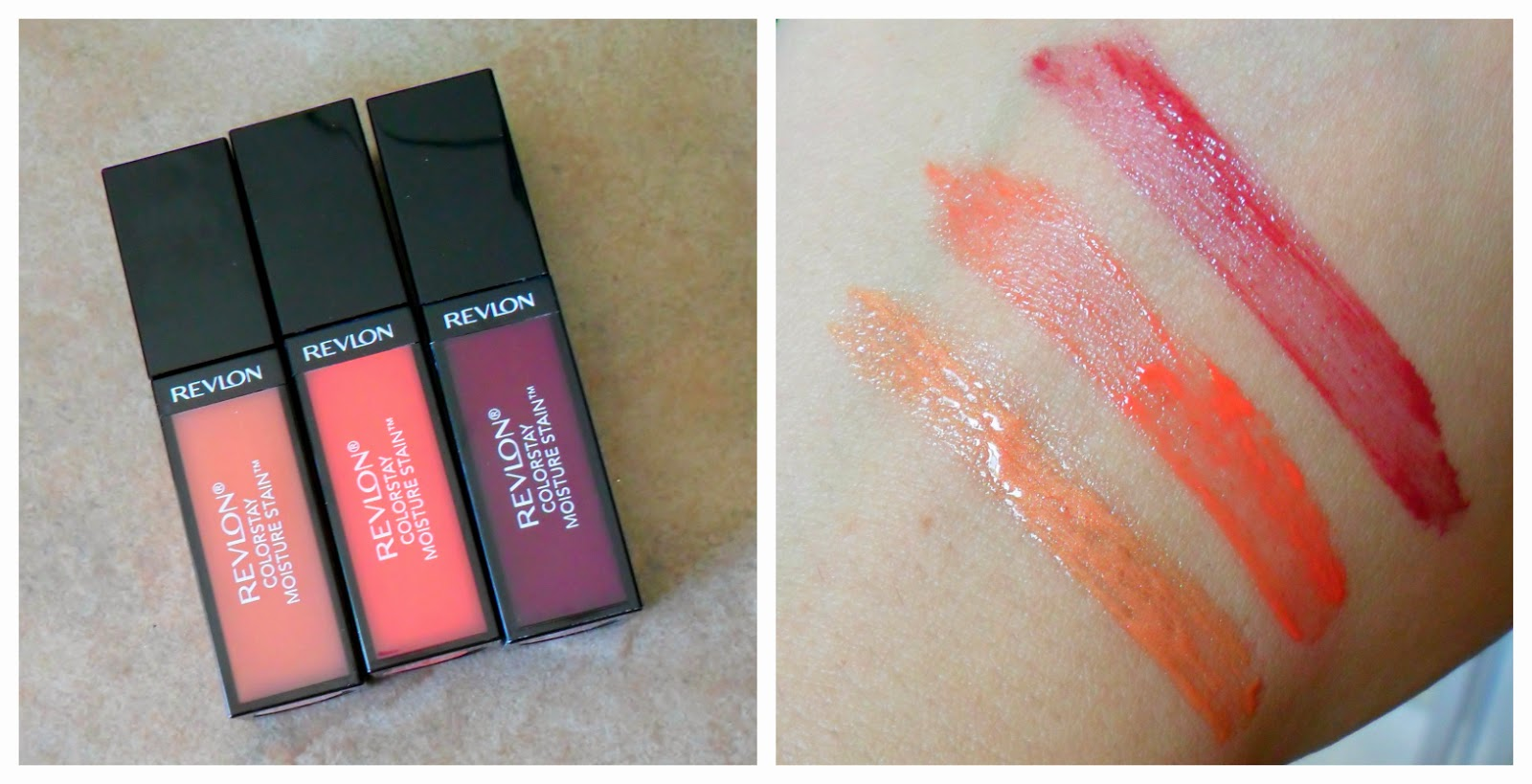 Review: Revlon Colorstay Moisture Stain's in India Intrigue, Parisian Passion, LA Exclusive, Barcelona Nights, Cannes Crush & London Posh