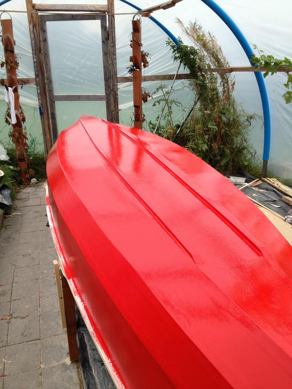 Waterman 16 canoe build step 4 painting for Waterman 16