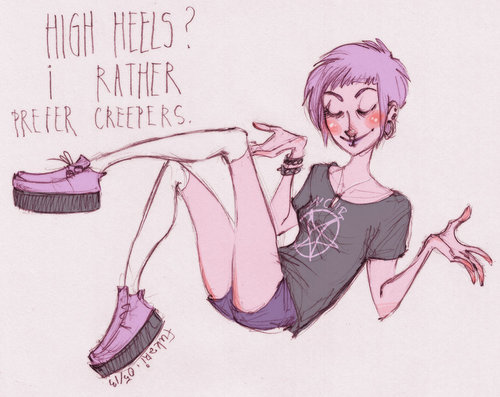 High Heels? I rather prefer Creepers ♥