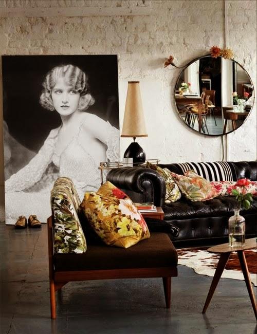 vintage poster - living room