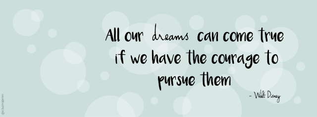 All our dreams can come true if we have the courage to pursue them - Walt Disney quotes frases citas facebook cover free gratis freebie