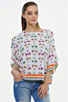 Bluza din vascoza cu croiala larga B19-VCZ (Ama Fashion)