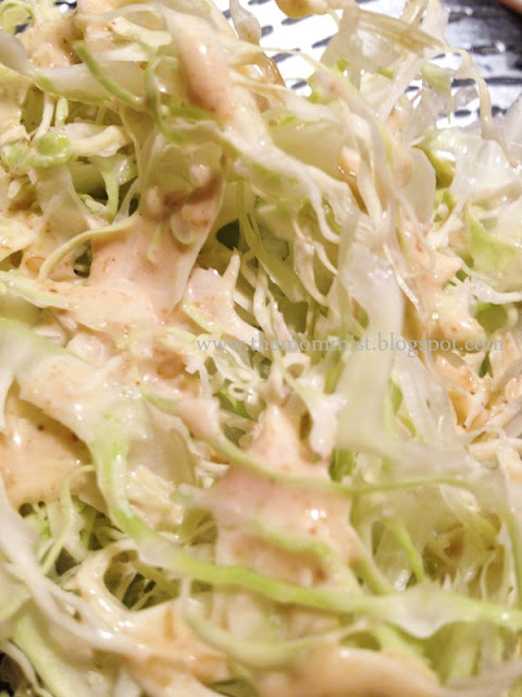 Shredded cabbage salad