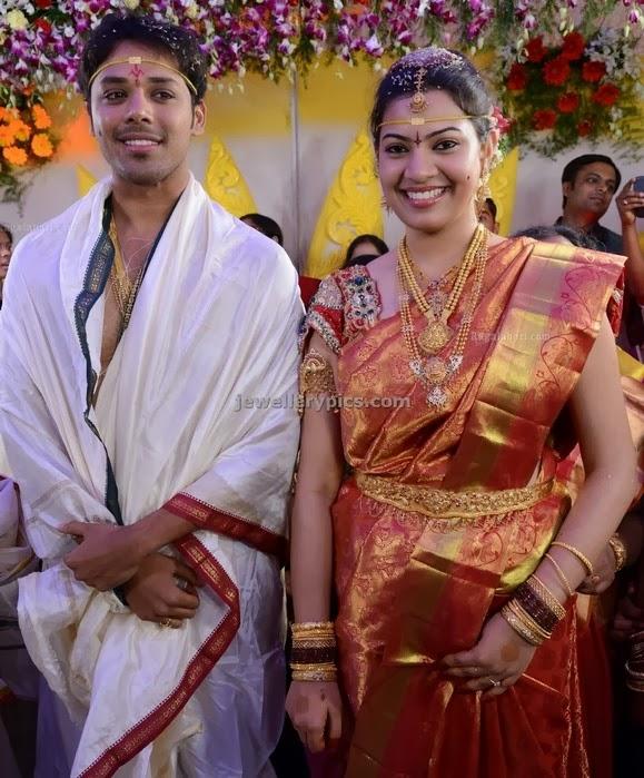 geetha madhuri nandu wedding photos and jewellery