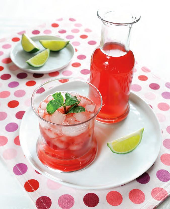 SPOON: Mother's Day Homemade Treats: Mint Hibiscus Lemonade