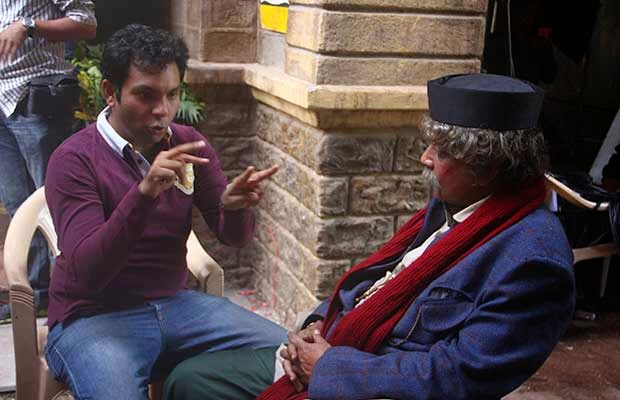 Mithun Chakraborti and Ayushmann Khurrana in Hawaizaada movie