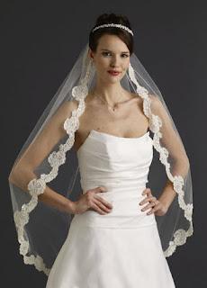 ivory wedding veils cheap