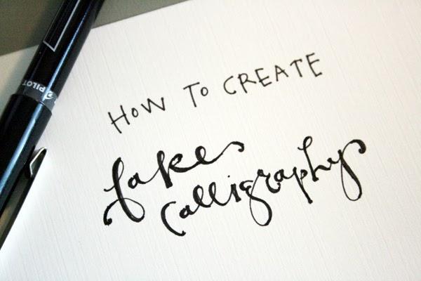 Do It Yourself Weddings Diy Calligraphy The Easy Way