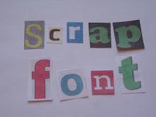 Scrap alfabet som klippeark