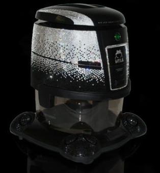 spend like a king: swarovski-crystal water-based vacuum cleaner
