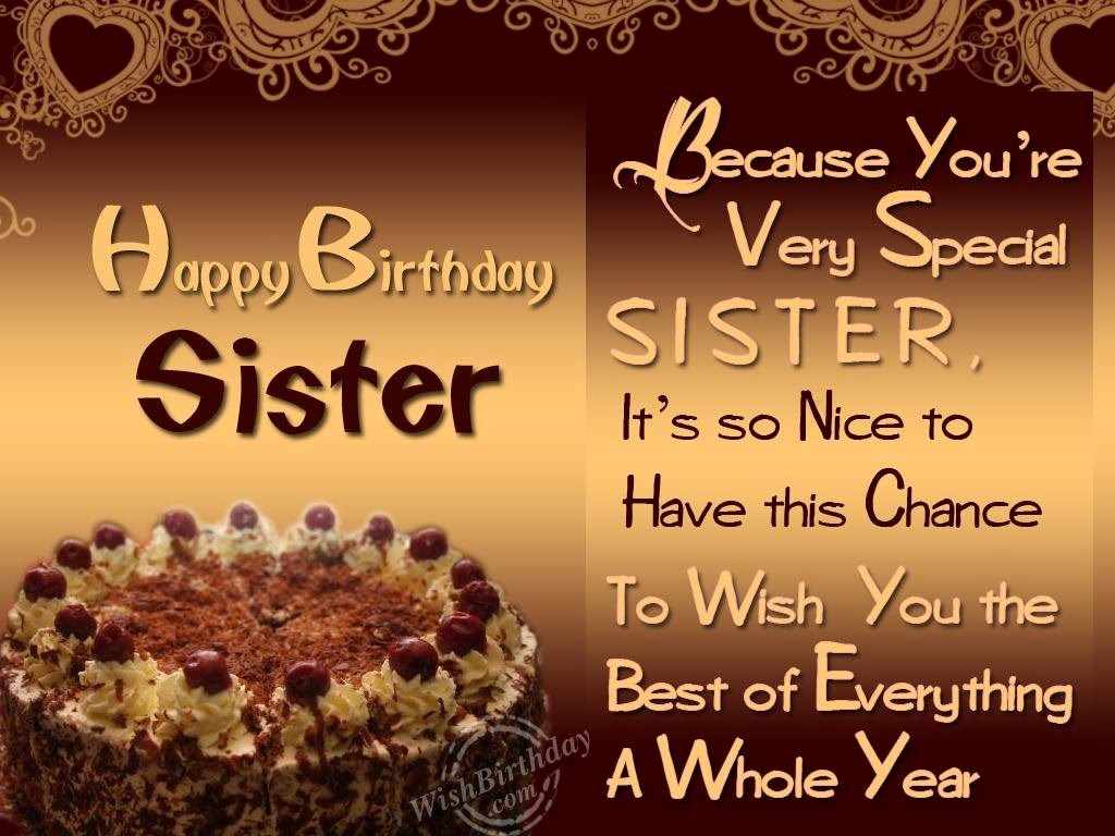All Stuff Zone Birthday Wishes Sister
