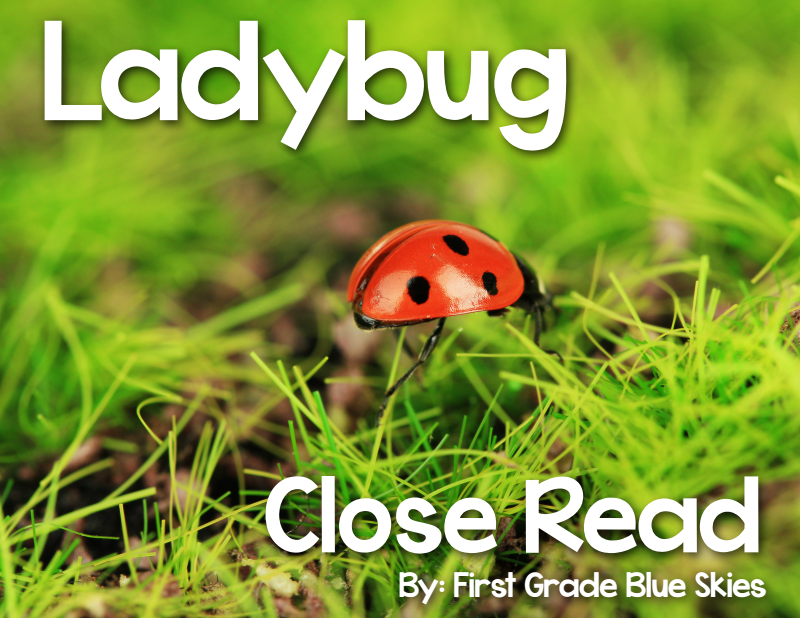 https://www.teacherspayteachers.com/Product/Ladybug-Close-Read-1285431