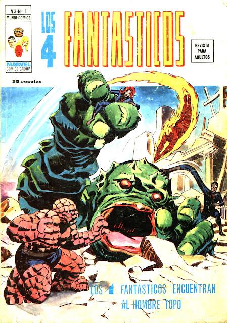 Portada de los 4 Fantásticos Volumen 3 Nº 1 Ediciones Vértice