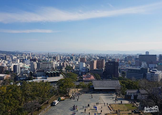 大天守からの熊本の景色