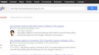 Cara agar blog Cepat diindeks Google