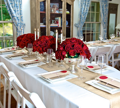 Impressive table decorating ideas for red rose table decorations christmas decorating ideas red rose table decorations junglespirit Choice Image