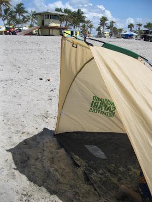 Backyard Safari shelter on the beach