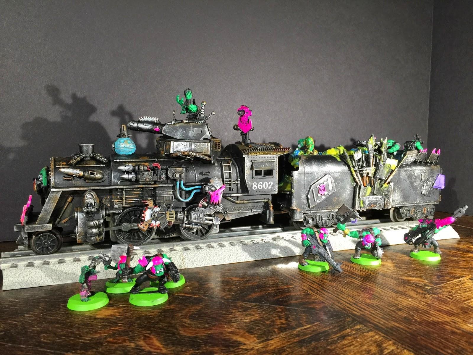 Ork Train; Pink Orks Train; Dakka Chugga; Ork Looted Wagon; Tyranid Fuel; Battle Gaming One