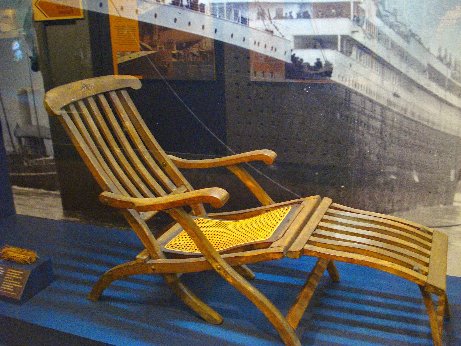World of the Written Word TITANIC deck chair