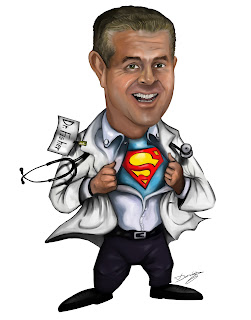 Superhero Caricature Doctor