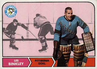 les binkley hockey card pittsburgh penguins
