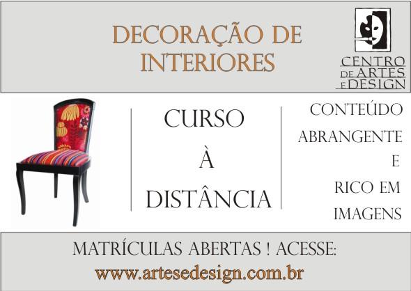 CENTRO DE ARTES E DESIGN: DECORAÇÃO DE INTERIORES - CURSO À